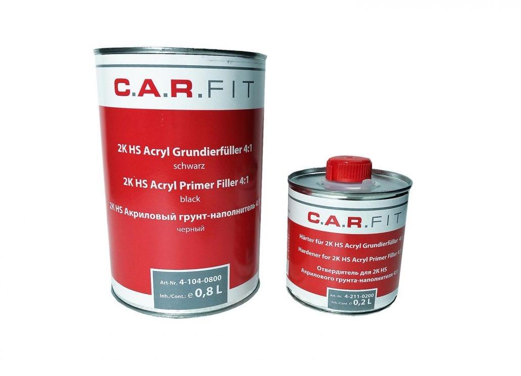 Carfit 2K HS Acryl Grundierfüller Primer 4:1 schwarz