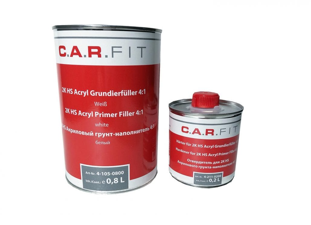 Carfit 2K HS Acryl Grundierfüller Primer 4:1 weiss