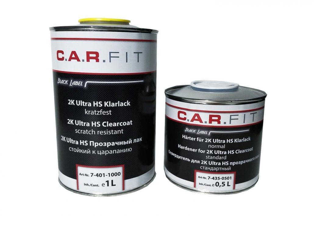 Carfit 2K Hochglanz Ultra HS Acryl-Klarlack 1 Liter +0,5 Härter Lackierbedarf
