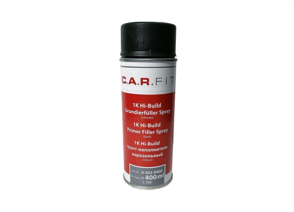 Carfit 1K Grundierfüller Spray (400 ml) – schwarz Smart Repair